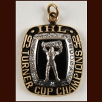 1994 IHL Atlanta Knights Turner Cup 10k Gold & Diamond Pendant  - Came from Norm Rochefort