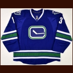 2008-09 Mats Sundin Vancouver Canucks Game Worn Jersey – Alternate – Team Letter
