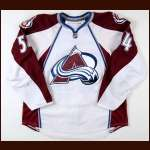 2008-09 David Jones Colorado Avalanche Game Worn Jersey - Team Letter