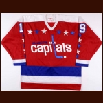 1980-81 Paul MacKinnon Washington Capitals Pre-Season Game Worn Jersey