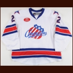 2011-12 Joe Finley Rochester Americans Game Worn Jersey – Team Letter