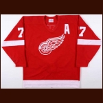 "1995-96 Paul Coffey Detroit Red Wings Game Worn Jersey – ""70th Anniversary"" - Last Red Wings Jersey - Video Match"