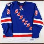 "2007-08 Marek Malik New York Rangers Game Issued Jersey  - ""2 - Brian Leetch"" - Team Letter"