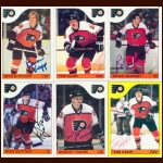 1985-86 Topps & OPC Philadelphia Flyers Autographed Card Group of 23 - Peter Zezel & Brad McCrimmon (Deceased)