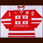 2008 Paata Kavkasidze Georgia National Team Game Worn Jersey