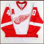 2008-09 Henrik Zetterberg Detroit Red Wings Game Worn Jersey - Team Letter