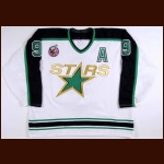 1992-93 Mike Modano Minnesota North Stars Game Worn Jersey