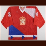 1987-88 Jiri Hrdina Team Czechoslovakia Game Worn Jersey