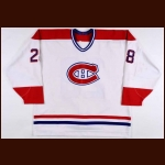 1995-97 Marc Bureau Montreal Canadiens Game Worn Jersey
