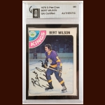 1978-79 OPC Bert Wilson Los Angeles Kings Autographed Card – Deceased – GAI Certified