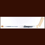 Kelly Hrudey San Jose Sharks White Cooper Game Used Stick – Autographed