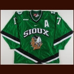 2006-07 Rylan Kaip University of North Dakota Game Worn Jersey – Team Letter