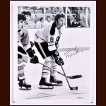 Larry Mickey Buffalo Sabres Autographed 8x10 B&W Shaver Photo - Deceased