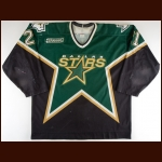 1999-00 Guy Carbonneau Dallas Stars Game Worn Jersey – Team Letter