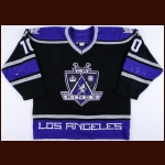2000-01 Mathieu Schneider Los Angeles Kings Game Worn Jersey - Photo Match – Team Letter
