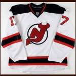 2008-09 Mike Rupp New Jersey Devils Game Worn Jersey - Photo Match - Team Letter