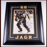 Jaromir Jagr Pittsburgh Penguins Autographed Photo – Matted and Framed