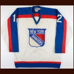 1978-79 Frank Beaton New York Rangers Pre-Season Game Worn Jersey - NYR vs PHL Bench Clearing Brawl - Photo Match