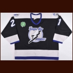 "1997-98 Mick Vukota Tampa Bay Lightning Game Worn Jersey – ""Cullen"" - Photo Match – Team Letter"