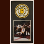 Phil Esposito & Ray Bourque Boston Bruins Autographed Matted & Framed Display