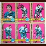 1972-73 Autographed Vancouver Canucks Card Group of 6