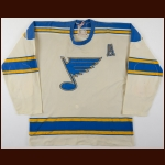 1969-70 Bob Plager St. Louis Blues Game Worn Jersey - Retired Number