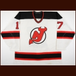 1996-97 Petr Sykora New Jersey Devils Game Worn Jersey - 2nd NHL Season – Team Letter