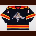 2000-01 Anders Eriksson Florida Panthers Game Worn Jersey – Alternate