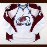 2008-09 Scott Hannan Colorado Avalanche Game Worn Jersey - Photo Match