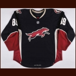 2008-09 Mikkel Boedker Phoenix Coyotes Game Worn Jersey – Alternate - Rookie - Photo Match