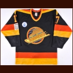 "1985-86 Patrick Sundstrom Vancouver Canucks Game Worn Jersey – ""86 Expo"" – ""100-year Vancouver"""