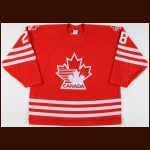 1993-94 David Harlock Team Canada Game Worn Jersey