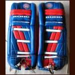 Mid 1990's Patrick Roy Canadiens Game Worn Pads
