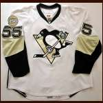 "2007-08 Sergei Gonchar Penguins Game Worn Jersey - ""Pittsburgh 250"" - Team Letter"
