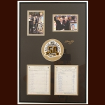 Willie O'Ree Boston Bruins Autographed Matted and Framed Display – Includes a VB Card Show LOA and photos of O'Ree Signing the Display