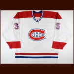 2005-06 Tomas Plekanec Montreal Canadiens Game Worn Jersey – Rookie – Photo Match – Team Letter