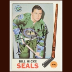 1969-70 Topps Bill Hicke Oakland Seals Autographed Card – Deceased