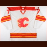 "1985-86 Joe Mullen Calgary Flames Game Worn Jersey – ""1988 Olympic"""