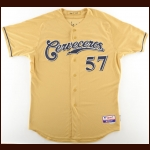 2011 Mitch Stetter Milwaukee Brewers Game Worn Jersey – Sixth Annual Cerveceros Day