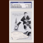 Bill Masterton Autographed Card - The Broderick Collection - Deceased