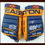 Pat Lafontaine Buffalo Sabres Easton Game Worn Gloves - Autographed - Garry Galley Letter