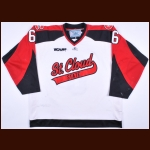 2009-10 Brett Barta St. Cloud State Game Worn Jersey - Photo Match