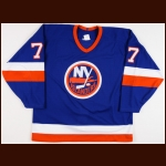 1993-94 Pierre Turgeon New York Islanders Game Issued Jersey - The Patrick Roy Collection - Patrick Roy Letter