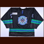 2015-16 Martin Tuma Columbus Cottonmouths Game Worn Jersey - 20-year anniversary crest - Team Letter