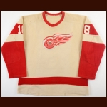 Circa Late 1950's Detroit Red Wings Game Worn Wool Jersey – Player #18