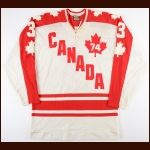 1974 J.C. Tremblay WHA Team Canada Game Worn Jersey