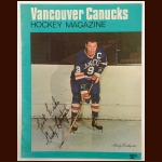 Andy Bathgate WHL Vancouver Canucks 8½ x 11 Color Autographed Magazine Cover – Deceased