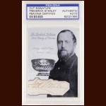 Frederick Stanley Autographed Card - The Broderick Collection - Deceased