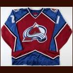 1996-97 Peter Forsberg Colorado Avalanche Game Worn Jersey - Team Letter