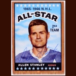 1966-67 Allen Stanley All Star Toronto Maple Leafs Autographed Card – Deceased